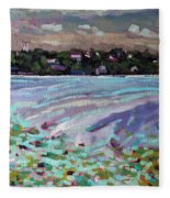 Lily Pads And Lilacs Fleece Blanket