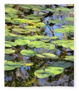 Lily Pads In The Swamp Fleece Blanket