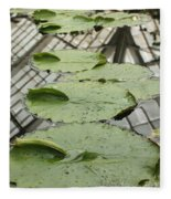 Lily Pads With Reflection Of Conservatory Roof Fleece Blanket
