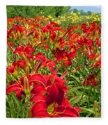 Lily Patch Fleece Blanket