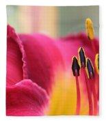 Lily Photo - Flower - Rusty Red Fleece Blanket