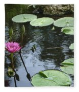 Lily Pond Fleece Blanket
