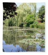 Lily Pond - Monets Garden - France Fleece Blanket