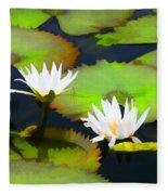 Lily Pond Bristol Rhode Island Fleece Blanket