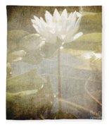 Lily Reflections Fleece Blanket