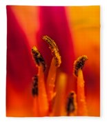 Lily Stamen Fleece Blanket