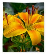 Lily Sunshine Fleece Blanket