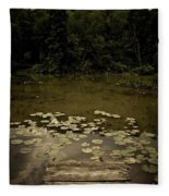 Lilypads At The Dock Fleece Blanket