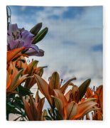 Lilys At La Fonda Fleece Blanket