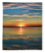Lima Ohio Sunset Fleece Blanket