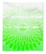 Lime Green Spirograph Fleece Blanket
