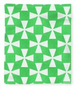 Lime Twirl Fleece Blanket