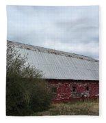 Limestone County Red Barn Fleece Blanket