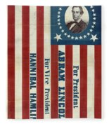Lincoln 1860 Presidential Campaign Banner Fleece Blanket