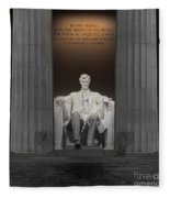 Lincoln And Columns Fleece Blanket