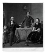 Lincoln And Family Fleece Blanket