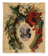 Lincoln And Garfield Fleece Blanket