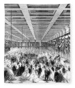 Lincoln Ball, 1865 Fleece Blanket