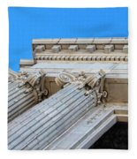 Lincoln County Courthouse Columns Looking Up 01 Fleece Blanket