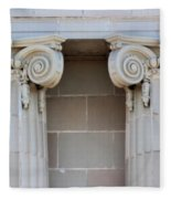 Lincoln County Courthouse Columns Fleece Blanket