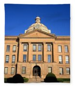 Lincoln Illinois - Courthouse Fleece Blanket