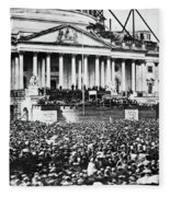 Lincoln Inauguration, 1861 Fleece Blanket