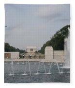 Lincoln Memorial And Fountain - Washington Dc Fleece Blanket