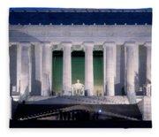 Lincoln Memorial At Dusk, Washington Fleece Blanket