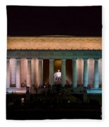 Lincoln Memorial At Night Fleece Blanket