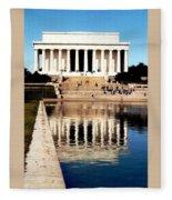 Lincoln Memorial Fleece Blanket
