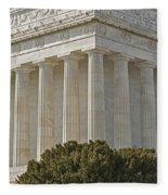 Lincoln Memorial Pillars Fleece Blanket