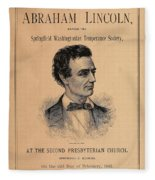 Lincoln Temperance, 1842 Fleece Blanket