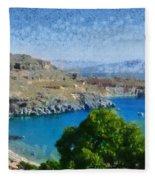 Lindos Beach Fleece Blanket