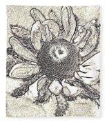 Linear Coneflower Fleece Blanket