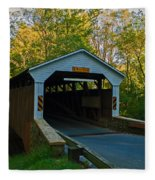 Linton Stevens Covered Bridge Fleece Blanket