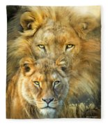 Lion And Lioness- African Royalty Fleece Blanket