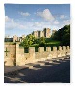 Lion Bridge At Alnwick Castle Fleece Blanket