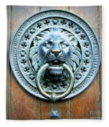 Lion Door Knocker In Norway Fleece Blanket