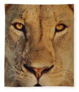 Lion Face  Fleece Blanket