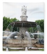 Lion Fountain - Aix En Provence Fleece Blanket