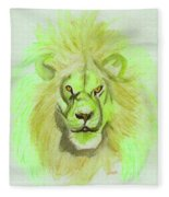 Lion Green Fleece Blanket