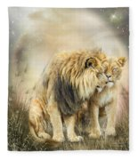Lion Kiss Fleece Blanket