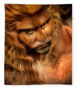Lion Man Fleece Blanket