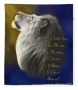 Lion Adoration Fleece Blanket