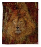 Lion Of Judah Fleece Blanket