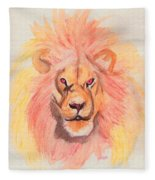 Lion Orange Fleece Blanket