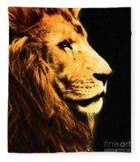 Lion Paint 2 Fleece Blanket