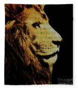 Lion Paint Fleece Blanket