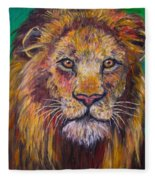 Lion Stare Fleece Blanket