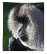 Lion Tailed Macaque Fleece Blanket